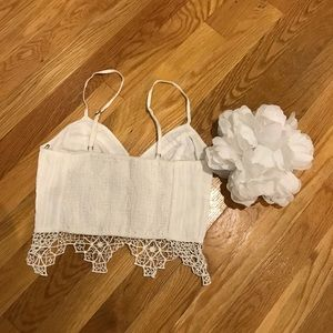 54c6006756 Free People Tops - Free people FP one geo Lace bralette white XS